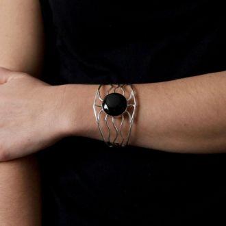 bracelet-argent-pierre-obsidienne-tampico-3